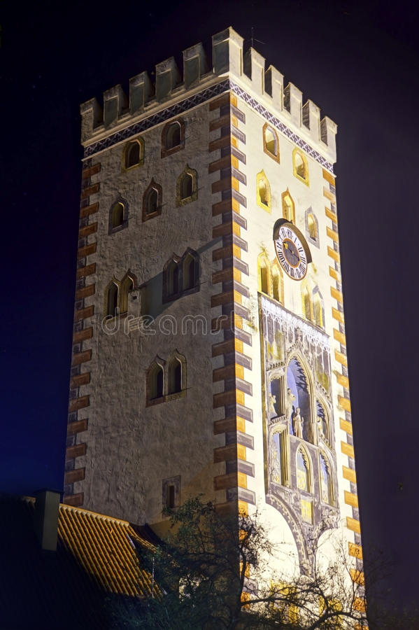 Bayertor, πύργος πυλών σε Landsberg AM Lech, Βαυαρία στοκ εικόνες με δικαίωμα ελεύθερης χρήσης