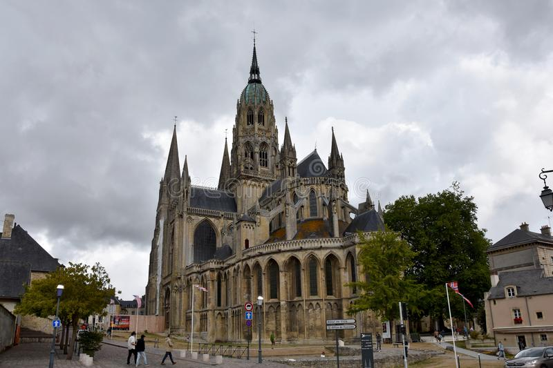 Bayeux Cathedral of Notre Dame,  Normandy, France stock image