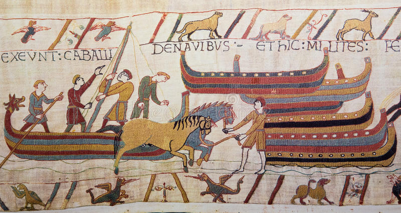 Bayeux gobeläng royaltyfri fotografi