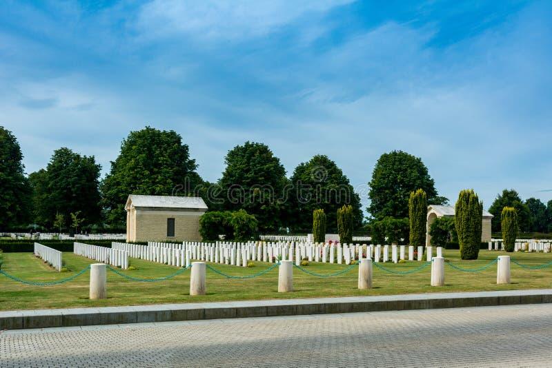 Bayeux kriger kyrkogården royaltyfri foto
