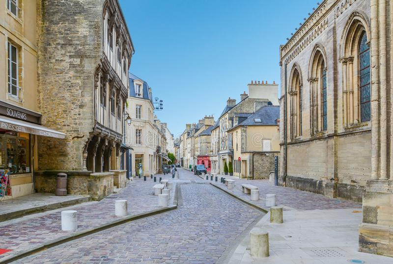 Scenic view in Bayeux, Normandy, France. royalty free stock photos