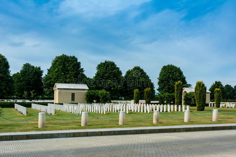 Bayeux War Cemetery royalty free stock photo