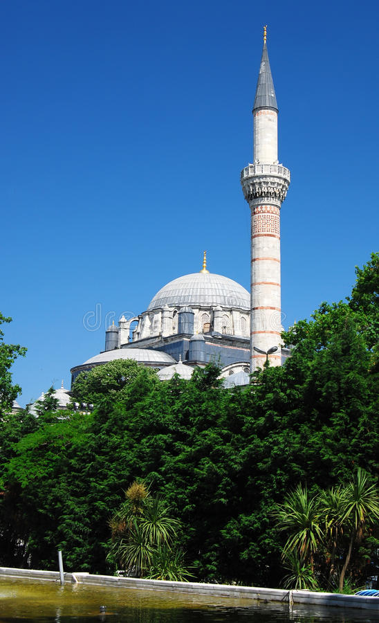 Bayezid Mosque in Istanbul stock photo