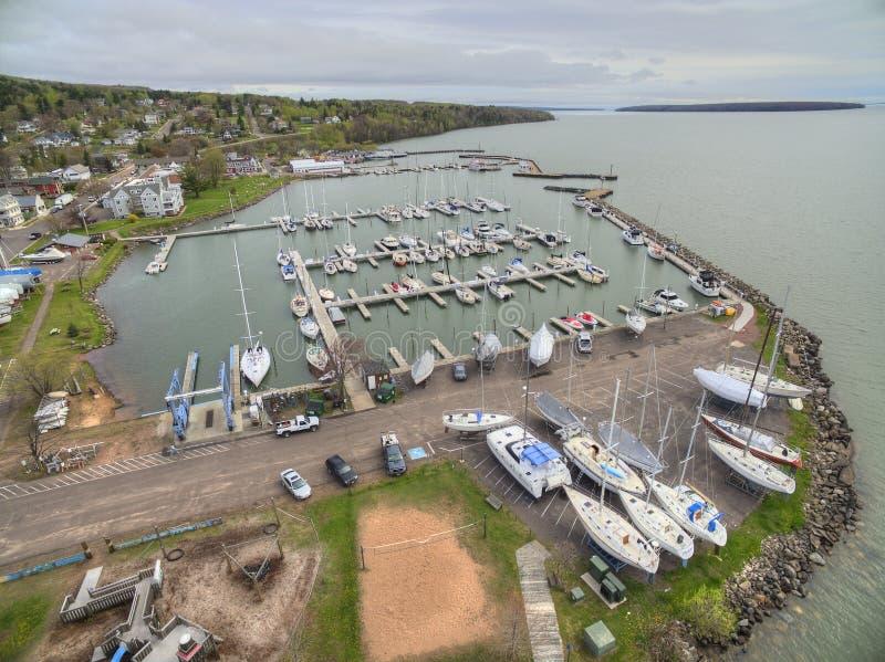 Bayfield Висконсин и Lake Superior стоковое изображение rf