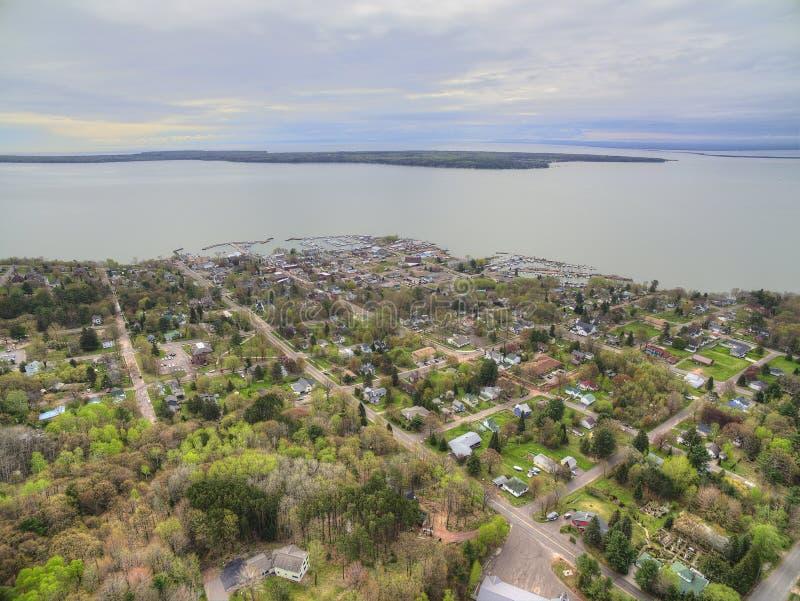 Bayfield Висконсин и Lake Superior стоковое изображение