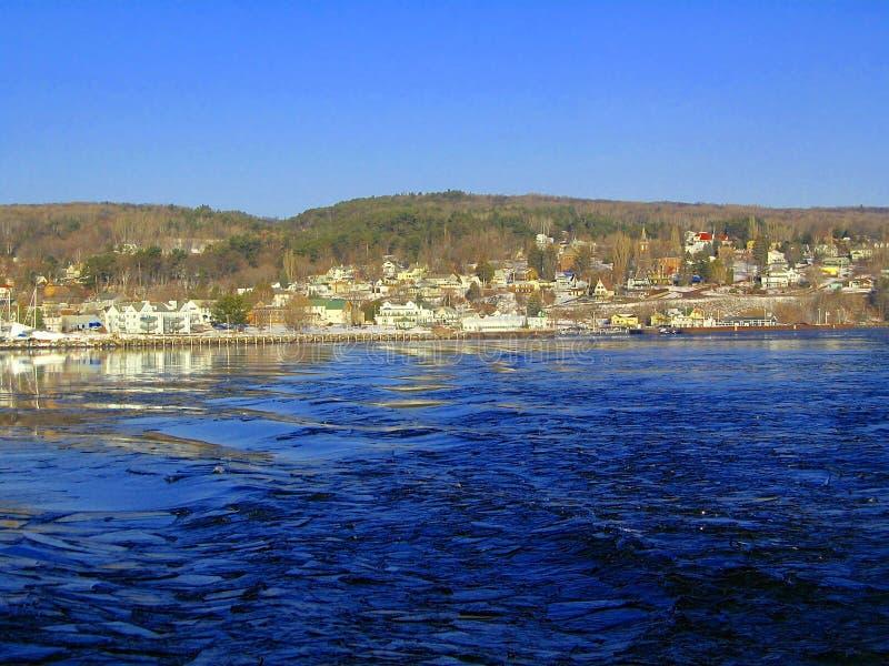 Bayfield-Ufergegend auf Oberem See, Wisconsin lizenzfreies stockfoto