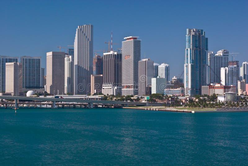 bayfront大厦公寓房街市迈阿密办公室 免版税库存照片