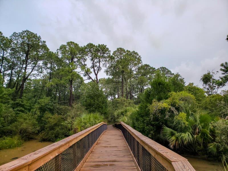 Bayfront Park Pavilion em Mobile Bay de Daphne, Alabama fotos de stock royalty free