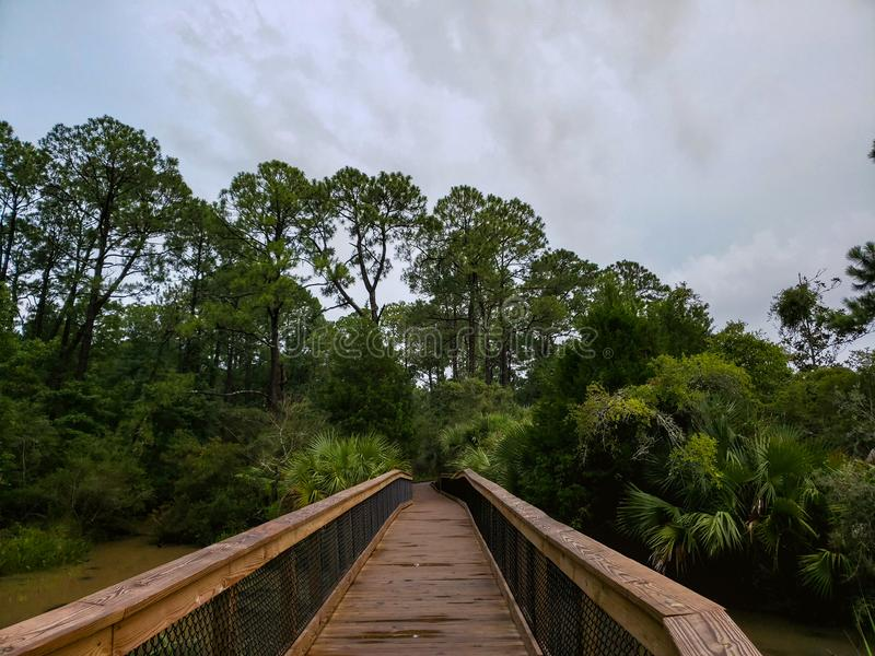 Bayfront Park Pavilion em Mobile Bay de Daphne, Alabama fotografia de stock