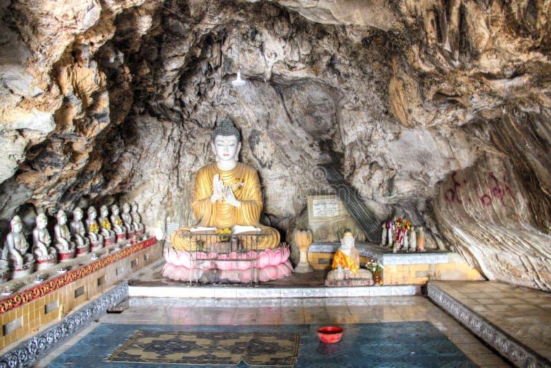 Bayin Nyi洞在Hpa-An,缅甸 库存照片