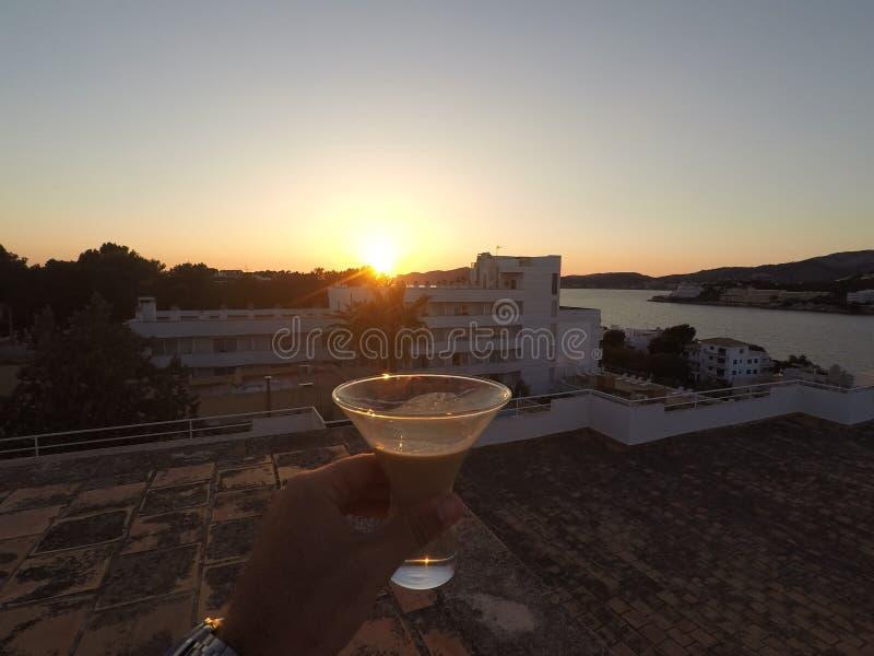 Bayles sunset Mallorca stock photo