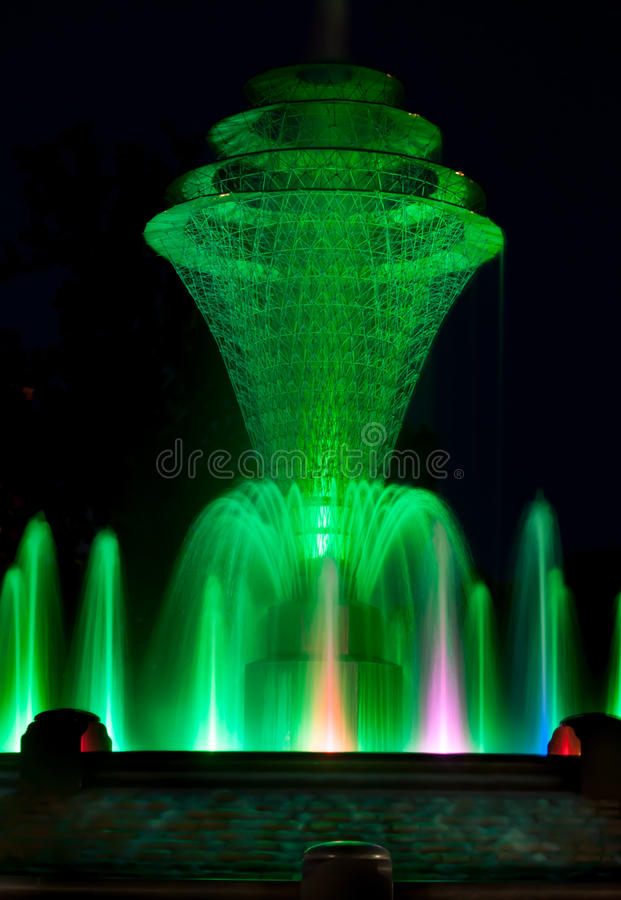 Bayliss Park Fountain Green Stock Photography
