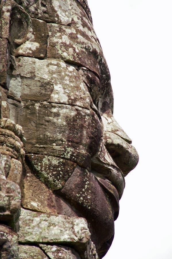 bayon πέτρα προσώπου της Καμπότζ στοκ εικόνες