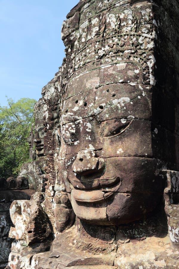 Bayon, Angkor Thom imagenes de archivo