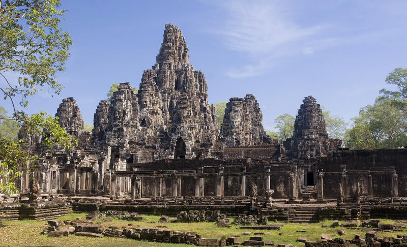 Bayon in center Angkor Wat - Cambodgia stock images
