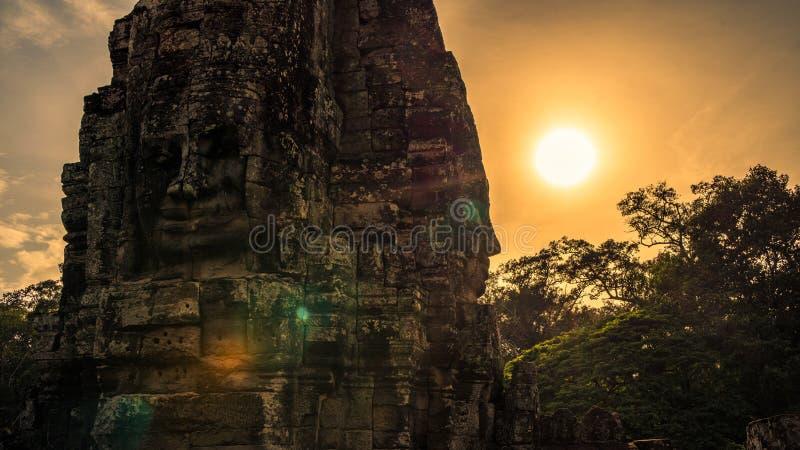 Bayon, de tempel van Angkor Wat Siem oogst, de glimlach van angkor royalty-vrije stock foto