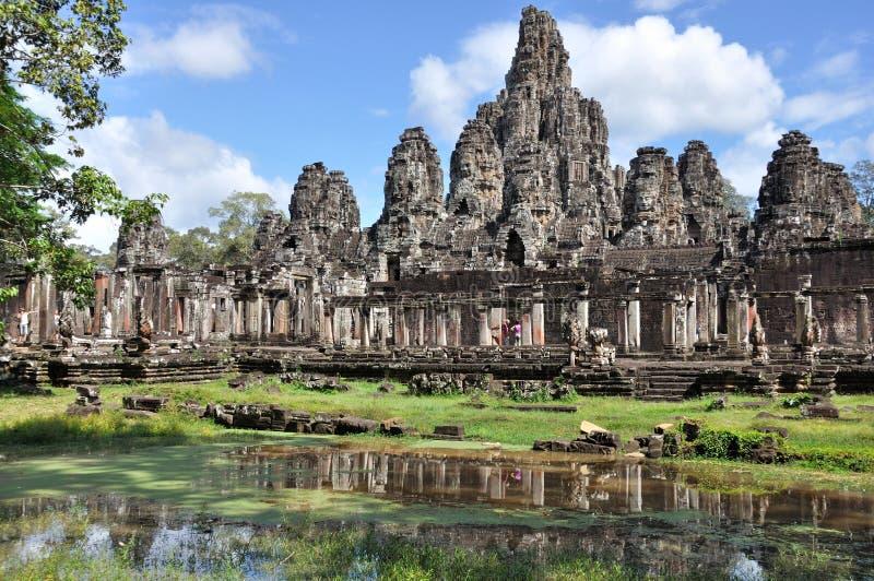 Bayon em Angkor Wat fotos de stock royalty free