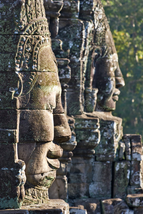 Free Bayon Faces. Stock Photos - 4474983