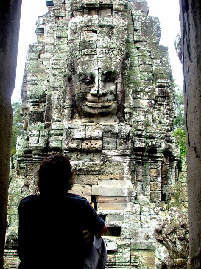 Bayon libarary Kambodja Ankor wat arkivbilder