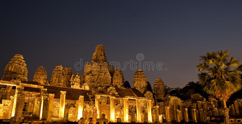 Bayon by night royalty free stock photography