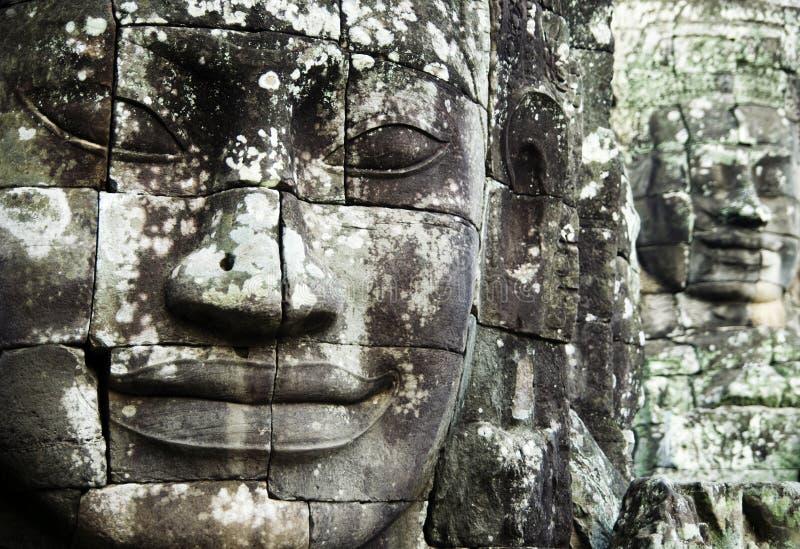 Bayon stellt Kambodscha-Monument-altes Konzept gegenüber stockbilder
