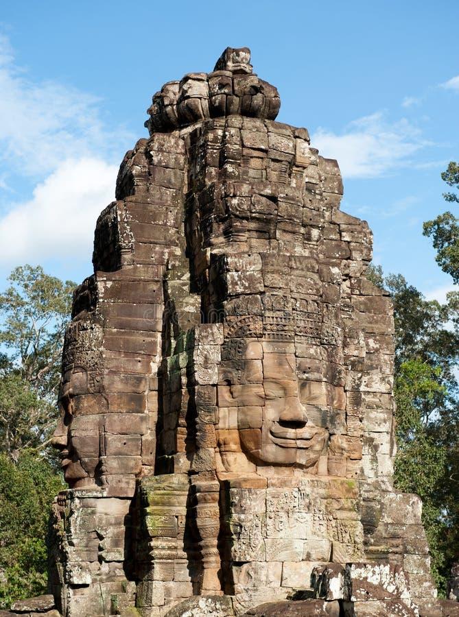 Bayon tempel, Angkor. arkivbilder