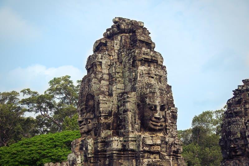 Bayon tempel Angkor Thom royaltyfri foto