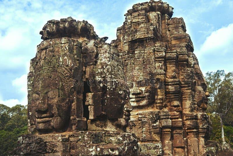 Bayon tempel Angkor Thom royaltyfri bild