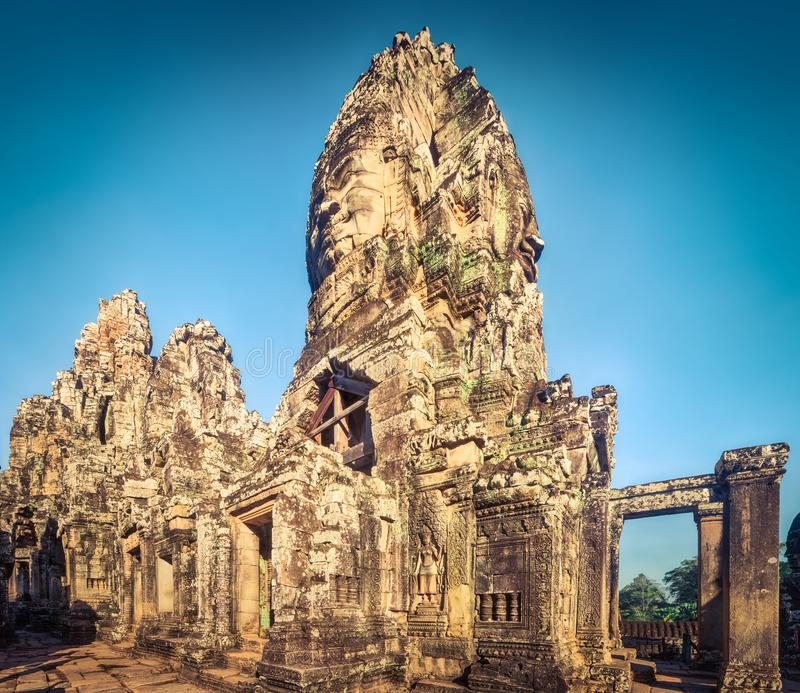 Bayon-Tempel in Angkor Thom Siem Reap kambodscha Panorama lizenzfreie stockbilder