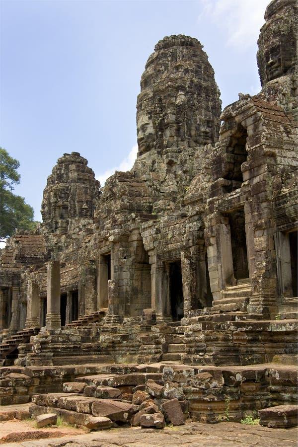 Bayon tempel - Angkor Wat - Cambodja royaltyfria bilder