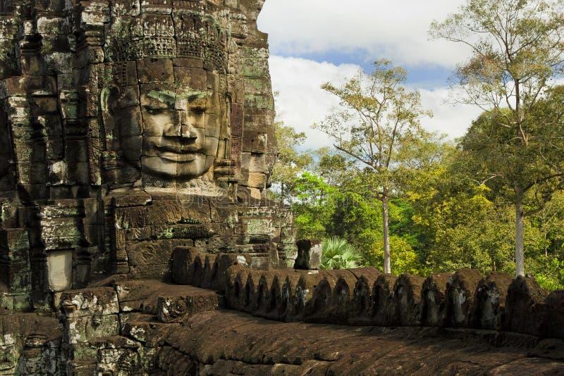 Bayon Tempel-Architektur lizenzfreie stockfotos