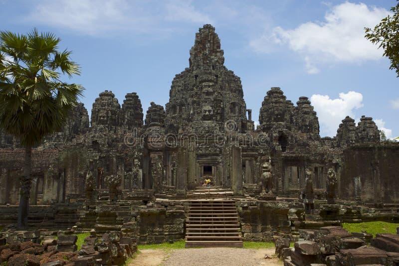 Bayon tempel, Cambodja arkivfoto