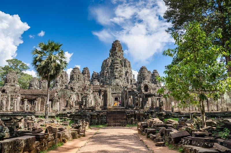 Bayon tempel i Angkor Thom royaltyfria foton
