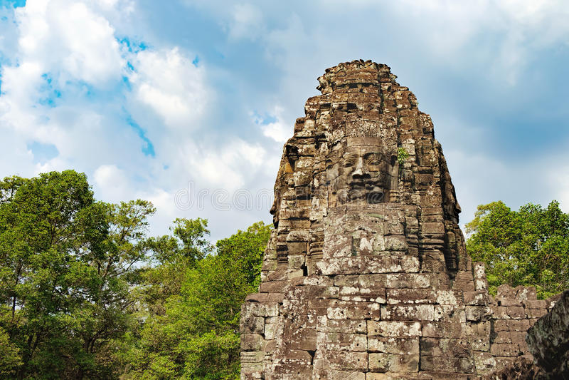 Bayon tempel i Angkor Thom Complex, Cambodja royaltyfri foto