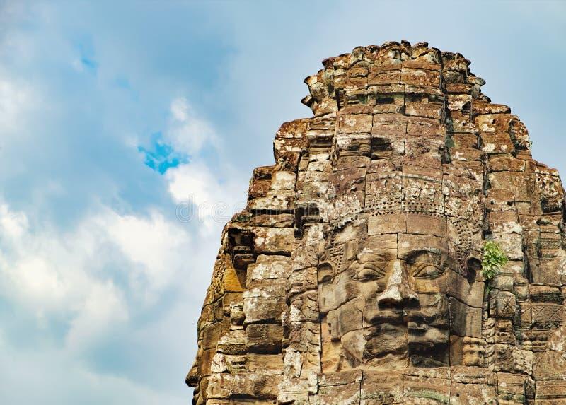 Bayon tempel i Angkor Thom Complex, Cambodja arkivbild