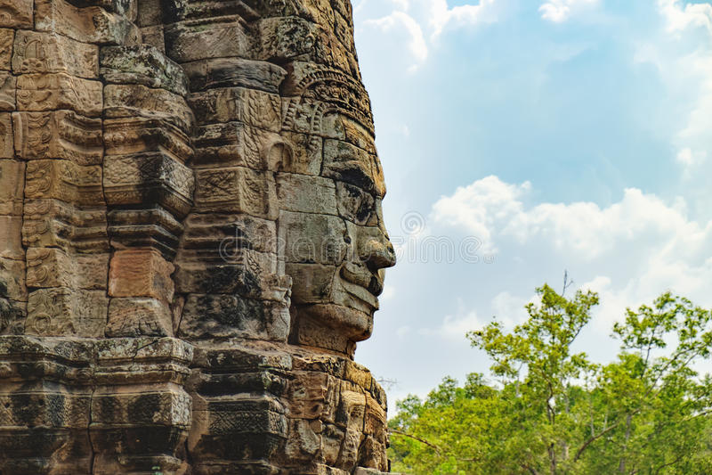 Bayon tempel i Angkor Thom Complex, Cambodja royaltyfri bild
