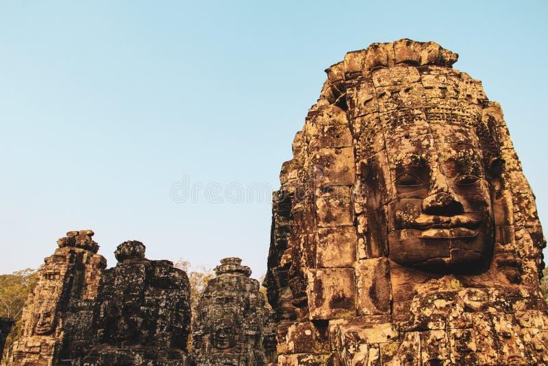 Bayon tempel i Angkor Thom, Siem Reap royaltyfri bild