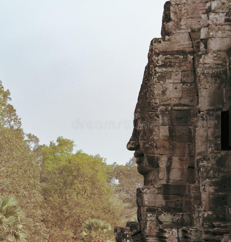 Bayon tempel i Angkor Thom, Siem Reap royaltyfria foton