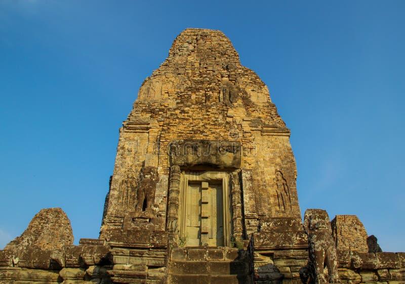 Bayon tempel i Angkor Thom, Siem Reap arkivbilder