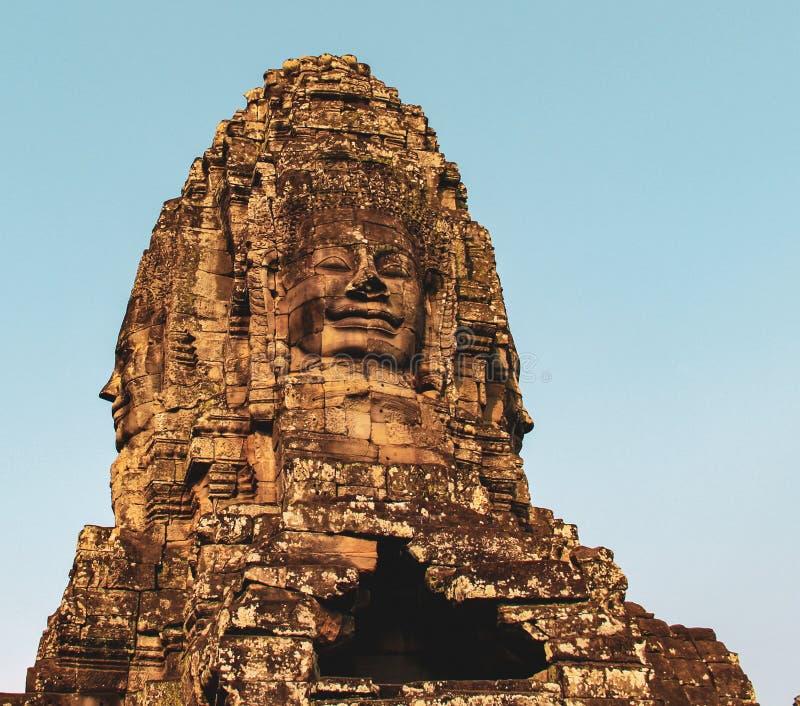 Bayon tempel i Angkor Thom, Siem Reap arkivfoton