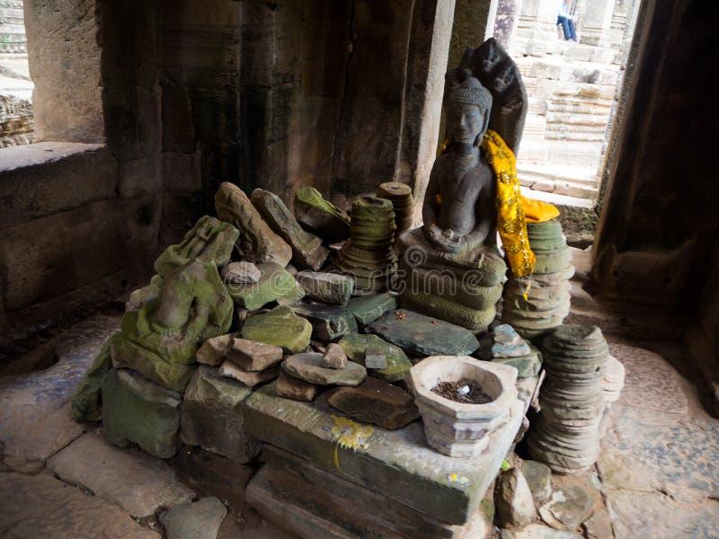 Bayon tempel i Angkor Thom, Siemreap, Cambodja arkivfoto