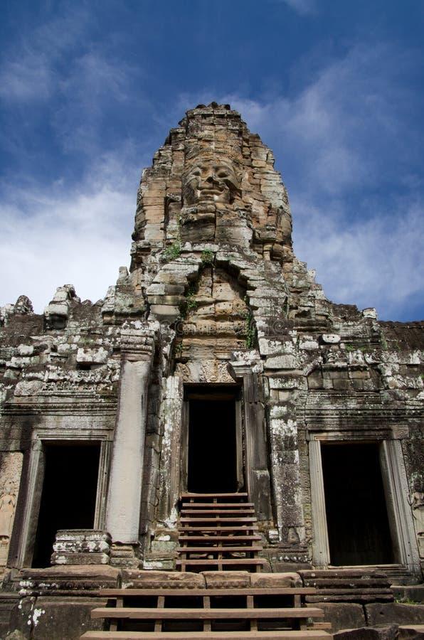 Bayon tempel i Cambodja arkivfoton