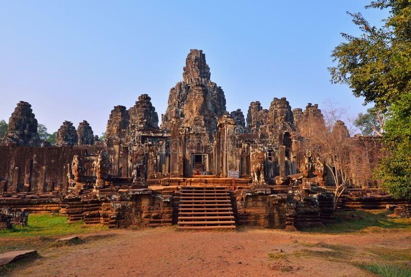Bayon tempel i Siem Reap, Cambodja arkivbild