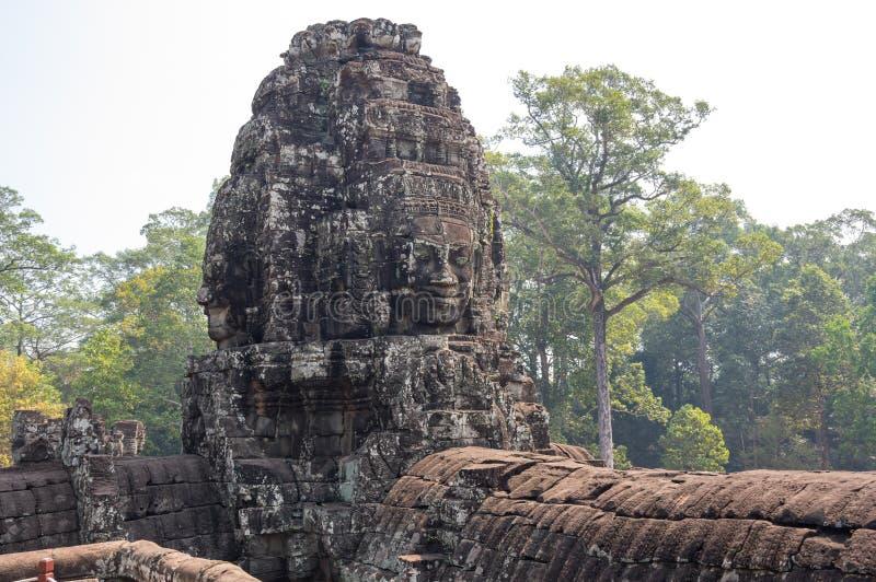 Bayon tempel på det Angkor Wat komplexet royaltyfri bild