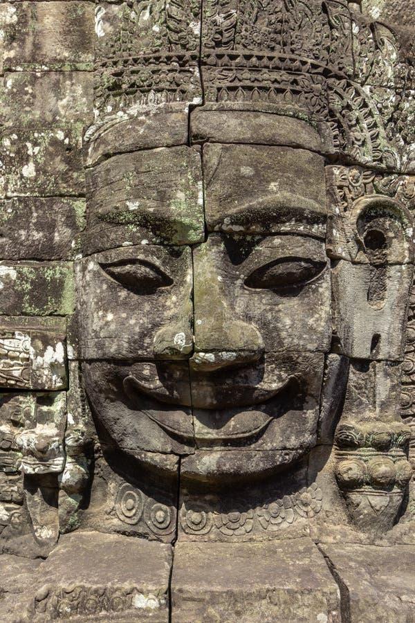 Bayon tempel som resas upp i séc XII på Angkor Thom, den sista huvudstaden av en khmervälden _ cambodia skördar siem fotografering för bildbyråer