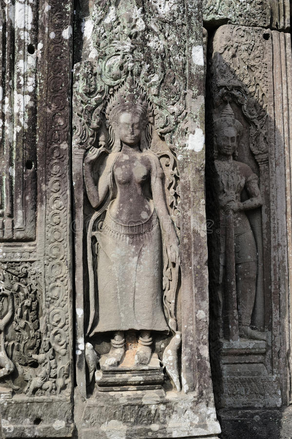 Download Bayon temple stock photo. Image of siam, buddha, dancers - 12784738