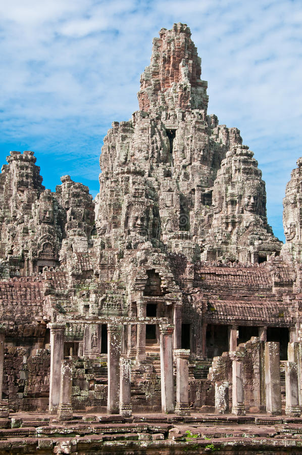 Bayon Temple of Angkor. The Bayon Temple inside the Angkor Wat complex, Cambodia royalty free stock photos