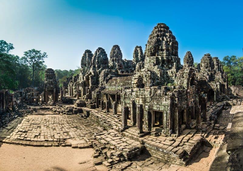 Bayon Temple at Angkor Thom stock images
