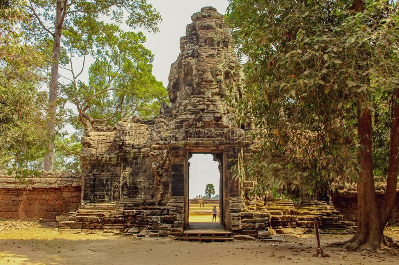 Bayon temple in Angkor Thom, Siem Reap royalty free stock photography