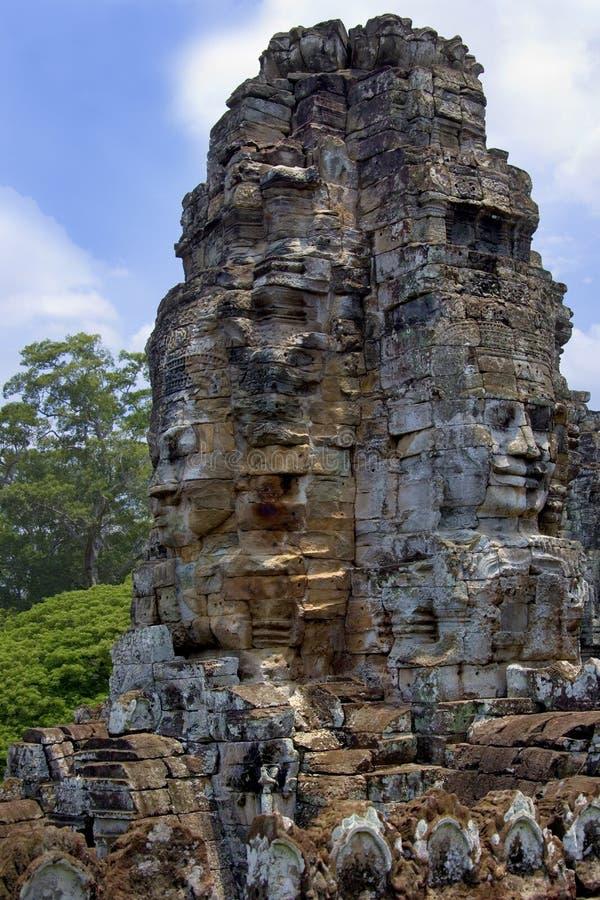 Bayon Temple - Angkor Wat - Cambodia Stock Photo